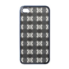 Black White Gray Crosses Apple Iphone 4 Case (black) by yoursparklingshop