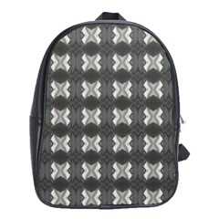 Black White Gray Crosses School Bags (xl)  by yoursparklingshop