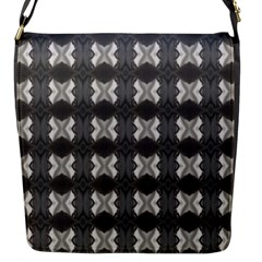 Black White Gray Crosses Flap Messenger Bag (s) by yoursparklingshop