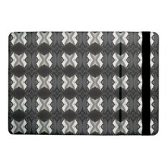 Black White Gray Crosses Samsung Galaxy Tab Pro 10 1  Flip Case by yoursparklingshop