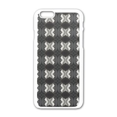 Black White Gray Crosses Apple Iphone 6/6s White Enamel Case by yoursparklingshop