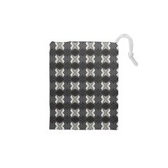 Black White Gray Crosses Drawstring Pouches (xs)  by yoursparklingshop