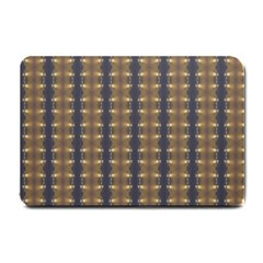 Black Brown Gold Stripes Small Doormat  by yoursparklingshop