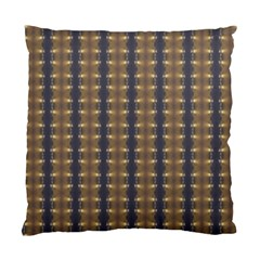 Black Brown Gold Stripes Standard Cushion Case (two Sides)