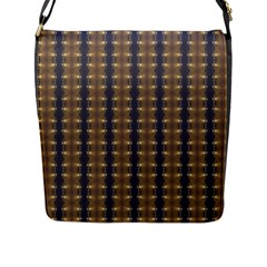 Black Brown Gold Stripes Flap Messenger Bag (l)  by yoursparklingshop