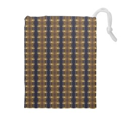 Black Brown Gold Stripes Drawstring Pouches (extra Large)