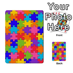 Funny Colorful Jigsaw Puzzle Multi Purpose Cards (rectangle)  by yoursparklingshop