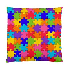 Funny Colorful Jigsaw Puzzle Standard Cushion Case (two Sides) by yoursparklingshop