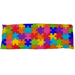 Funny Colorful Jigsaw Puzzle Body Pillow Case (dakimakura) by yoursparklingshop