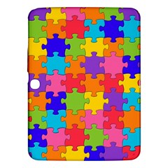 Funny Colorful Jigsaw Puzzle Samsung Galaxy Tab 3 (10 1 ) P5200 Hardshell Case  by yoursparklingshop