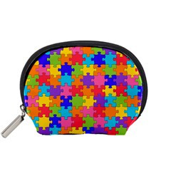 Funny Colorful Jigsaw Puzzle Accessory Pouches (small)