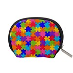 Funny Colorful Jigsaw Puzzle Accessory Pouches (Small)  Back