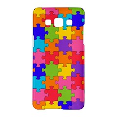 Funny Colorful Jigsaw Puzzle Samsung Galaxy A5 Hardshell Case  by yoursparklingshop