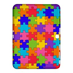 Funny Colorful Jigsaw Puzzle Samsung Galaxy Tab 4 (10 1 ) Hardshell Case  by yoursparklingshop