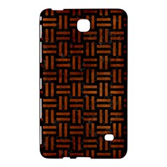 Woven1 Black Marble & Brown Burl Wood Samsung Galaxy Tab 4 (7 ) Hardshell Case  by trendistuff