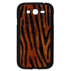 Skin4 Black Marble & Brown Burl Wood Samsung Galaxy Grand Duos I9082 Case (black) by trendistuff