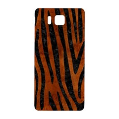 Skin4 Black Marble & Brown Burl Wood Samsung Galaxy Alpha Hardshell Back Case