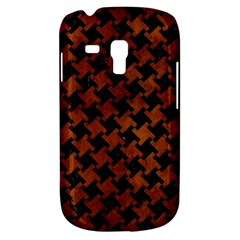 Houndstooth2 Black Marble & Brown Burl Wood Samsung Galaxy S3 Mini I8190 Hardshell Case by trendistuff