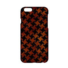Houndstooth2 Black Marble & Brown Burl Wood Apple Iphone 6/6s Hardshell Case by trendistuff