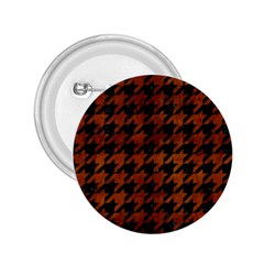 Houndstooth1 Black Marble & Brown Burl Wood 2 25  Button by trendistuff