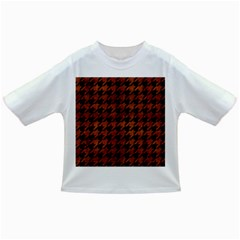 Houndstooth1 Black Marble & Brown Burl Wood Infant/toddler T Shirt by trendistuff