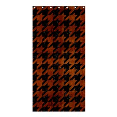 Houndstooth1 Black Marble & Brown Burl Wood Shower Curtain 36  X 72  (stall) by trendistuff