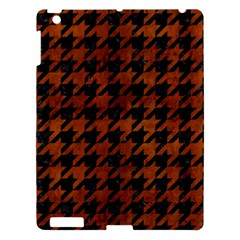 Houndstooth1 Black Marble & Brown Burl Wood Apple Ipad 3/4 Hardshell Case by trendistuff