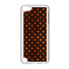 Circles3 Black Marble & Brown Burl Wood (r) Apple Ipod Touch 5 Case (white) by trendistuff