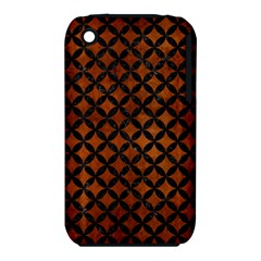 Circles3 Black Marble & Brown Burl Wood (r) Apple Iphone 3g/3gs Hardshell Case (pc+silicone) by trendistuff