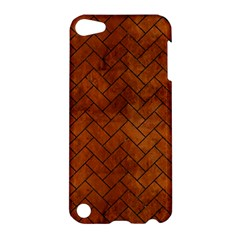 Brick2 Black Marble & Brown Burl Wood (r) Apple Ipod Touch 5 Hardshell Case by trendistuff