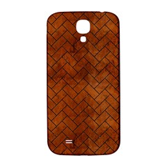 Brick2 Black Marble & Brown Burl Wood (r) Samsung Galaxy S4 I9500/i9505  Hardshell Back Case by trendistuff