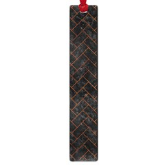 Brick2 Black Marble & Brown Burl Wood Large Book Mark by trendistuff