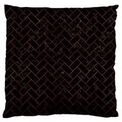 Brick2 Black Marble & Brown Burl Wood Standard Flano Cushion Case (two Sides) by trendistuff