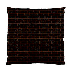 Brick1 Black Marble & Brown Burl Wood Standard Cushion Case (two Sides) by trendistuff
