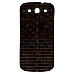 Brick1 Black Marble & Brown Burl Wood Samsung Galaxy S3 S Iii Classic Hardshell Back Case by trendistuff