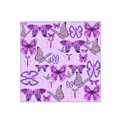 Purple Awareness Butterflies Satin Bandana Scarf by FunWithFibro