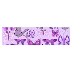Purple Awareness Butterflies Satin Scarf (oblong) by FunWithFibro