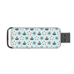 Nautical Elements Pattern Portable Usb Flash (two Sides) by TastefulDesigns