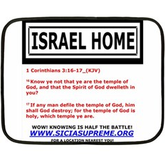 Israel Home Temple Of God Fleece Blanket (mini)