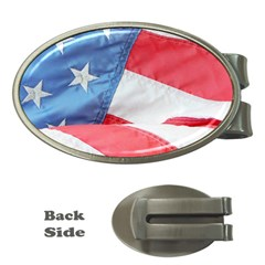 Folded American Flag Money Clips (oval)  by StuffOrSomething