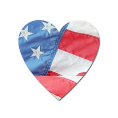 Folded American Flag Heart Magnet by StuffOrSomething