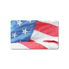Folded American Flag Magnet (name Card)