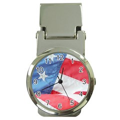 Folded American Flag Money Clip Watches by StuffOrSomething