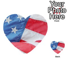 Folded American Flag Multi Purpose Cards (heart)  by StuffOrSomething