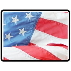 Folded American Flag Fleece Blanket (large)  by StuffOrSomething