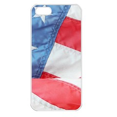Folded American Flag Apple Iphone 5 Seamless Case (white) by StuffOrSomething