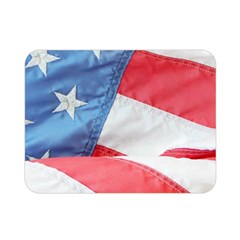 Folded American Flag Double Sided Flano Blanket (mini)  by StuffOrSomething