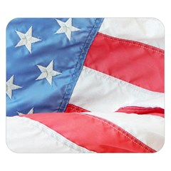 Folded American Flag Double Sided Flano Blanket (small)  by StuffOrSomething
