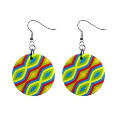Colorful Chains                    			1  Button Earrings by LalyLauraFLM