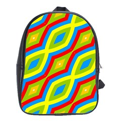 Colorful Chains                    			school Bag (large) by LalyLauraFLM